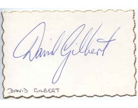 DAVE GILBERT CRICKET AUTOGRAPH