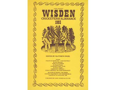 WISDEN REPLACEMENT DUST JACKET 1993