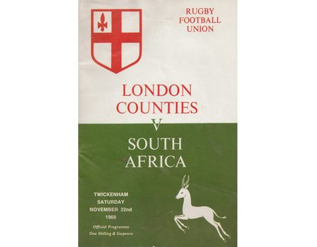 LONDON COUNTIES V SOUTH AFRICA 1969