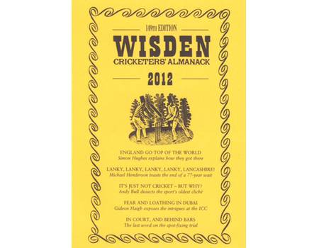 WISDEN TRADITIONAL-STYLE DUST JACKET 2012