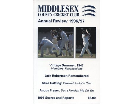 MIDDLESEX COUNTY CRICKET CLUB ANNUAL REVIEW 1996/97