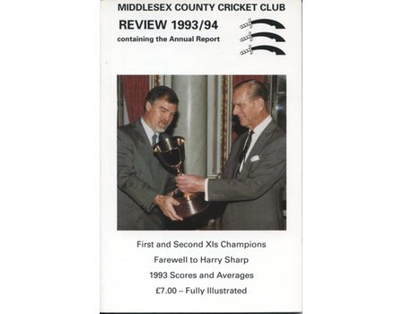 MIDDLESEX COUNTY CRICKET CLUB ANNUAL REVIEW 1993/94
