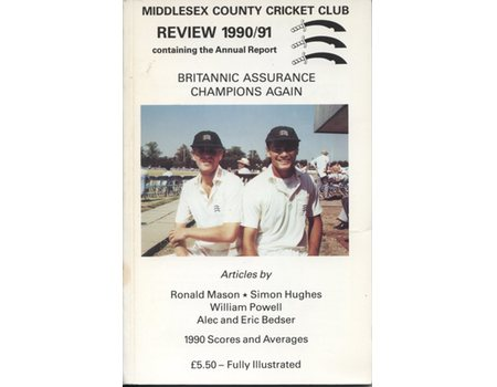 MIDDLESEX COUNTY CRICKET CLUB ANNUAL REVIEW 1990/91