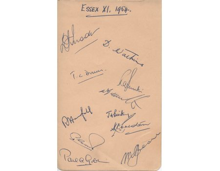 ESSEX 1954 CRICKET AUTOGRAPHS