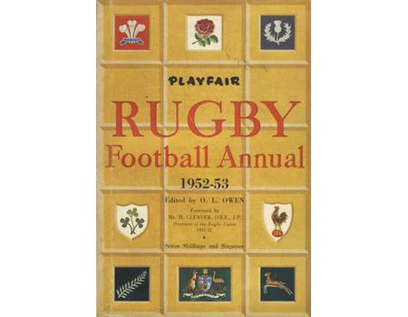 PLAYFAIR RUGBY FOOTBALL ANNUAL 1952-53
