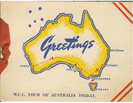 CHRISTMAS CARD (ASHES TOUR 1950-51) - SIGNED BY CHARLIE BRAY, ESSEX