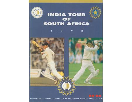 INDIA TOUR OF SOUTH AFRICA 1992
