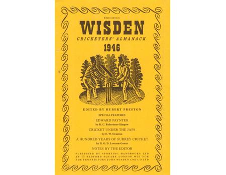 WISDEN DUST JACKET 1946