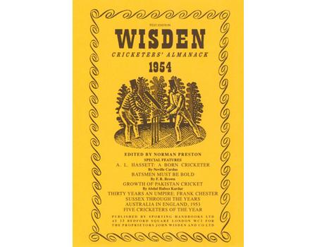 WISDEN DUST JACKET 1954