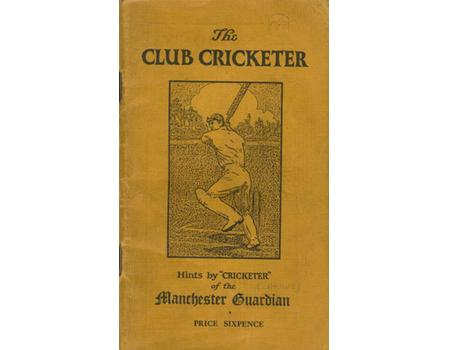 THE CLUB CRICKETER