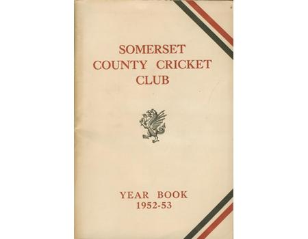 SOMERSET COUNTY CRICKET CLUB YEARBOOK 1952-53