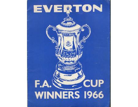 EVERTON F.A. CUP WINNERS 1966