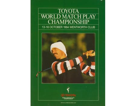 WORLD MATCH PLAY CHAMPIONSHIP 1994 GOLF PROGRAMME
