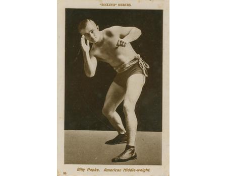 BILLY PAPKE BOXING POSTCARD