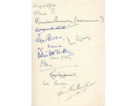 AUSTRALIAN TEST CRICKET TEAM 1956 SIGNED LUNCHEON MENU