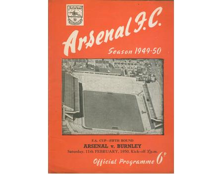 ARSENAL V BURNLEY 1949-50 (FA CUP) FOOTBALL PROGRAMME