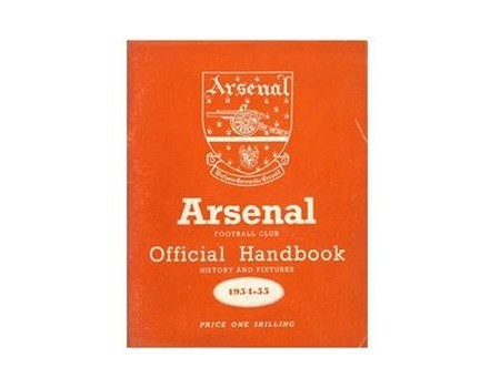 ARSENAL FOOTBALL CLUB HISTORY AND FIXTURES 1954-55 (OFFICIAL HANDBOOK)
