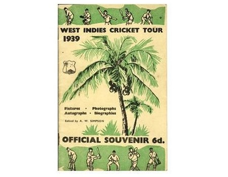 WEST INDIES 1939 CRICKET TOUR BROCHURE