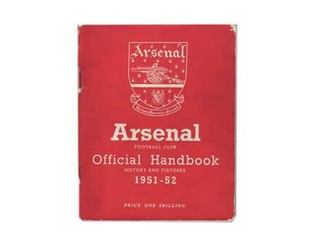 ARSENAL FOOTBALL CLUB HISTORY AND FIXTURES 1951-52 (OFFICIAL HANDBOOK)