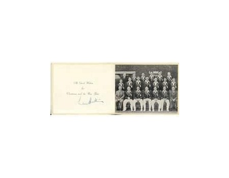 ENGLAND 1950-51 christmas card (signed by hutton)