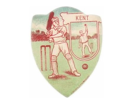 "BAINES ""KENT"" CRICKET TRADE CARD"