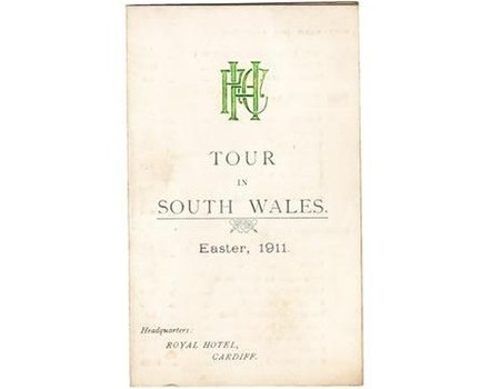 HEADINGLEY R.F.C. TOUR OF SOUTH WALES 1911 signed fixture card
