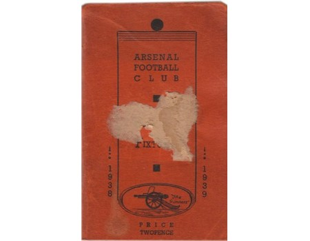 ARSENAL FOOTBALL CLUB HISTORY AND FIXTURES 1938-39 (OFFICIAL HANDBOOK)