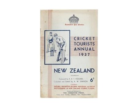 CRICKET TOURISTS ANNUAL 1937: NEW ZEALAND