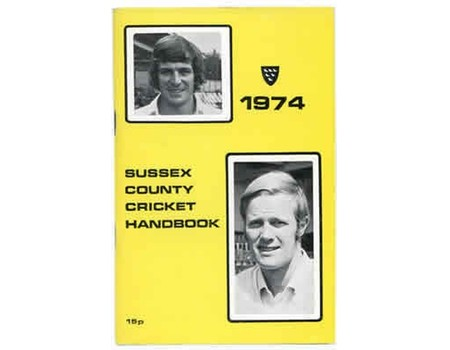 OFFICIAL SUSSEX CRICKET HANDBOOK 1974