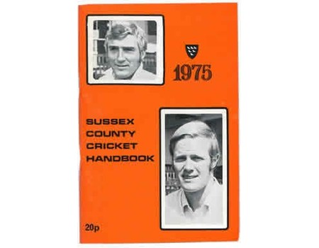 OFFICIAL SUSSEX CRICKET HANDBOOK 1975