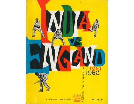 ENGLAND TOUR OF INDIA 1961-62 CRICKET BROCHURE