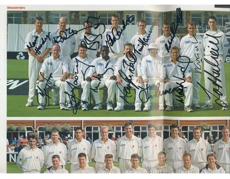 GLOUCESTERSHIRE V SOMERSET 1999 (NATWEST TROPHY FINAL) CRICKET PROGRAMME - SIGNED BY GLOUCESTERSHIRE