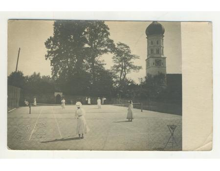 TENNIS IN BURTENBACH (GERMANY) POSTCARD