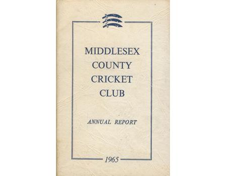 MIDDLESEX COUNTY CRICKET CLUB ANNUAL REPORT 1965