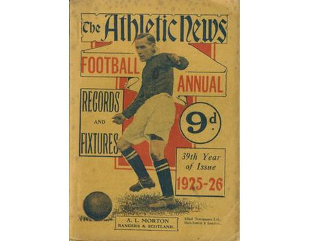 ATHLETIC NEWS FOOTBALL ANNUAL 1925-26
