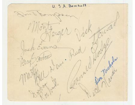 "AMERICAN ""ALL STARS"" BASEBALL TEAM 1955 (TOUR TO SOUTH AFRICA) AUTOGRAPHS"