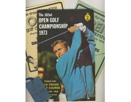 OPEN GOLF CHAMPIONSHIP 1973 (OLD TROON) PROGRAMME
