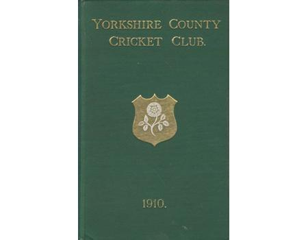 YORKSHIRE COUNTY CRICKET CLUB 1910 [ANNUAL]