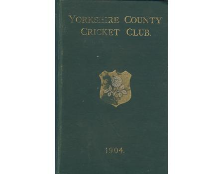 YORKSHIRE COUNTY CRICKET CLUB 1904 [ANNUAL]