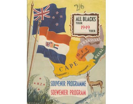 NEW ZEALAND ALL BLACKS RUGBY TOUR TO SOUTH AFRICA 1949 SOUVENIR PROGRAMME