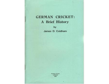 GERMAN CRICKET: A BRIEF HISTORY