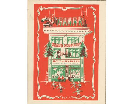HOLT AND HASKELL SPORTS SPECIALISTS CHRISTMAS CARD (SOUTHAMPTON)