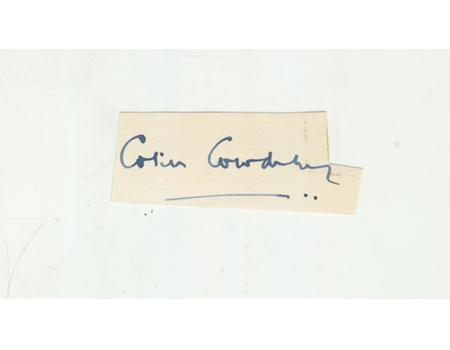 COLIN COWDREY (KENT AND ENGLAND) CRICKET AUTOGRAPH