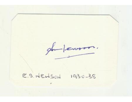 BOB NEWSON CRICKET AUTOGRAPH