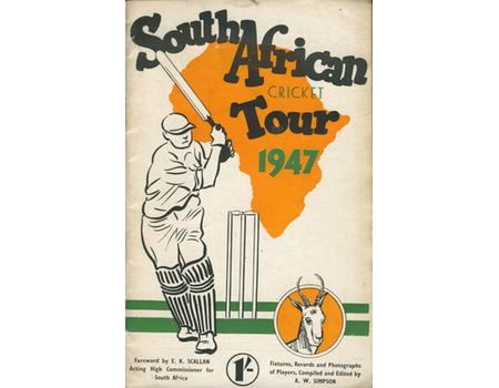 SOUTH AFRICAN CRICKET TOUR 1947 BROCHURE