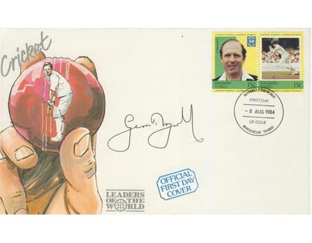 FIRST DAY COVER 1984 SIGNED BY GEOFF BOYCOTT