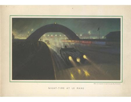 LE MANS CHRISTMAS CARD (SIGNED BY BOB BERRY) 1950