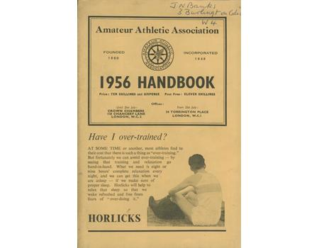 AMATEUR ATHLETIC ASSOCIATION HANDBOOK 1956
