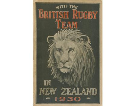 WITH THE BRITISH RUGBY TEAM IN NEW ZEALAND 1930