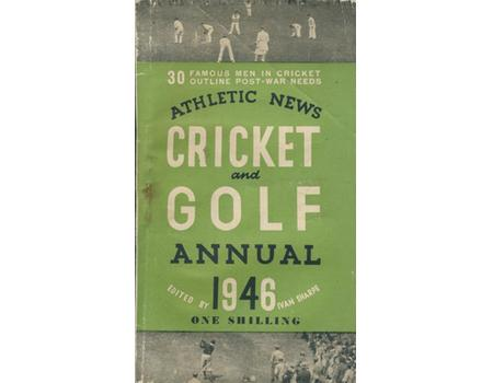 ATHLETIC NEWS CRICKET AND GOLF ANNUAL 1946